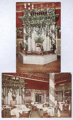 1910 Denver Co Albany Hotel Colonial Room Interior 2 Unused Old Postcards Pc4506