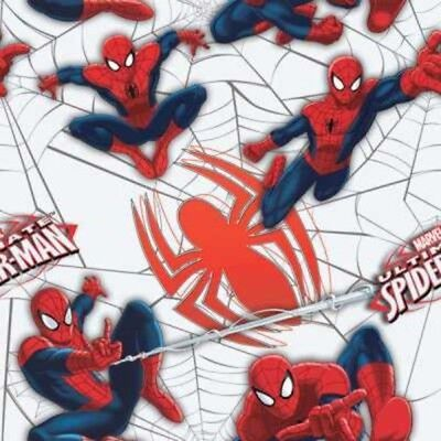 Camelot Cottons Marvel Ultimate Spider-Man 13080103 2 Red Stripes FREE US SHIP