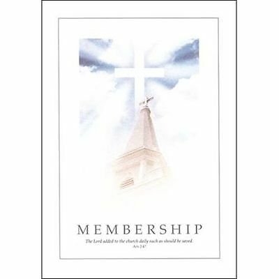 Soaring Steeple---5 x 7 Church Membership Certificates/6  (Acts 2:47)
