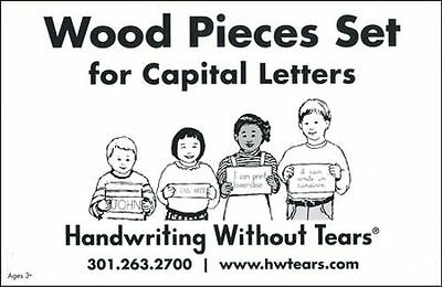 Wood Pieces Set for Capital Letters---Preschool to Grade K