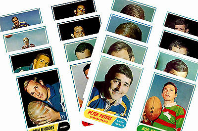 Nrl Rugby League (1969) - Gum Card/ Postcard Set # 1