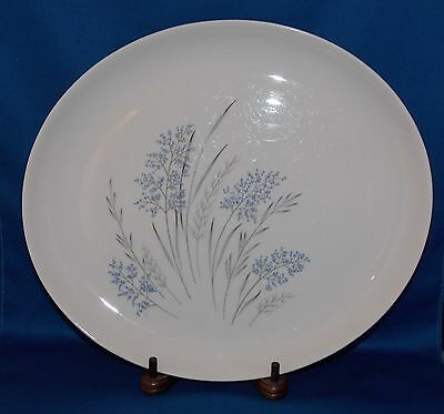 "SYRACUSE Carefree Fine China BLUE GRASS 12"" Oval Meat Serving Platter VINTAGE"