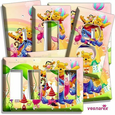 Winnie The Pooh Disneys Teddy Bear Light Switch Outlet Wall Plate Baby Room Deco