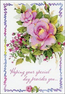 Celebrating You, Floral Birthday Cards, Box of 12