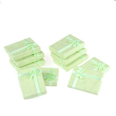 10X Pendant Ring Necklace Earrings Bracelet Jewelry Set Green Paper Gift Box NEW