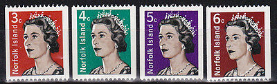 1968 Coil Stamps of Norfolk Island MUH - Complete Set