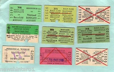 #D63.  30 1980s NSW RAILWAY TICKETS, MOSTLY NEWCASTLE AREA