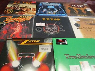 Zz Top Set Of Eight 180 Gram Vinyl Audiophile Titles + Live 13 Pieces Total