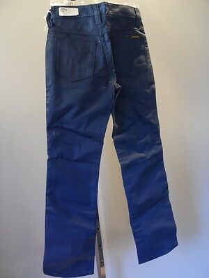 Nos DeadStock Dickies Vintage Uniform Pants Slacks Trousers Navy Blue Boys 12