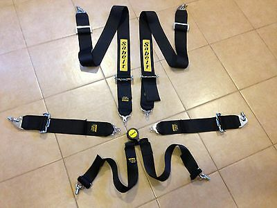 SABELT FIA 6 POINT HARNESS-race,rally,rallycross,sprint,hill climb.expire 2021.