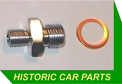 New Oil Pressure Gauge Pipe Connector & washer for MGBGT & MGB Roadster 1962-77