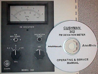 Cushman 302 Deviation Meter Operating & Service Manual