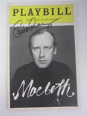 Playbill Broadway Macbeth Nicol Williamson 1982 Signed Lucie Arnaz COA Lucille