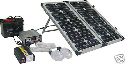 solar set basic 50 w 12v photovoltaik mit 75ah akku modul. Black Bedroom Furniture Sets. Home Design Ideas