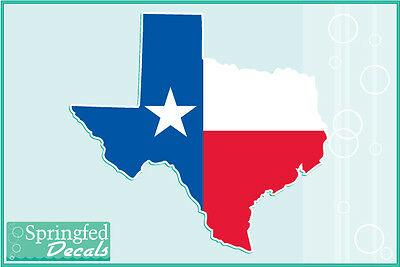 TEXAS STATE SHAPED FLAG Vinyl Decal Car Truck Sticker CUSTOM SIZES! Don't Mess