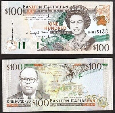 East Caribbean States - ND 2000 100 Dollar. P.41d. Dominica. UNC.