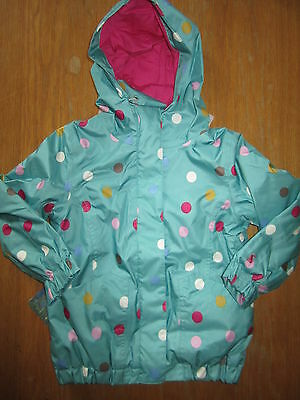 JOULES Kirstie Waterproof Spotty Soft Fleece Lined Coat Sz 5 & 8 FreeUKP&P