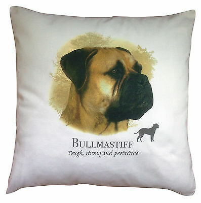 Bullmastiff Breed of Dog Cotton Cushion Cover with Story - Perfect Gift
