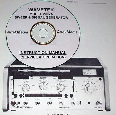 WAVETEK 2002A Sweep & Signal Generator Instruction Manual (Operating & Service)