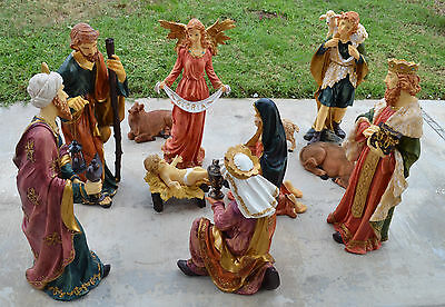 Christmas Holiday 11  Figurines 14-30 Inches NATIVITY SET