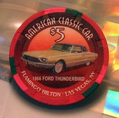 Las Vegas  Flamingo Hilton 1966 Ford Thunderbird Casino Chip