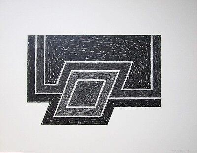 """FRANK STELLA Signed 1974 Original Lithograph - """"Conway"""""""