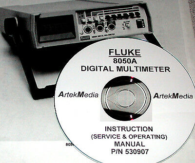 FLUKE 8050A DMM  Instruction Manual (Operating & Service)