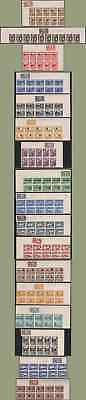 Peru 1936-7 Airpost/Postage PROOF MARGIN BLOCKS/ STRIPS OF TEN with color labels