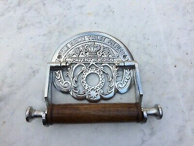 VICTORIAN STYLE ~ MATT  PLATED ~TOILET ROLL HOLDER ~The Crown Toilet Fixture