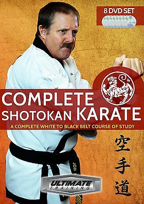 Complete Shotokan Karate - white to black belt training series (8 DVDs)