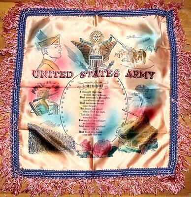Home Front: Pillow Cover - U.S. Army - 1950/60's era