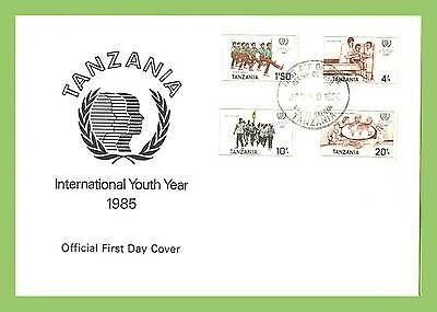 Tanzania 1986 International Youth Year set on First Day Cover