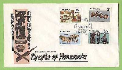 Tanzania 1987 Crafts set irst Day Cover
