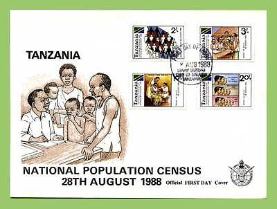 Tanzania 1988 Population Census set First Day Cover