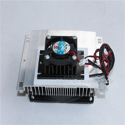 Thermoelectric Peltier Refrigeration Cooling System Kit Cooler fan TEC1-12705 Ne