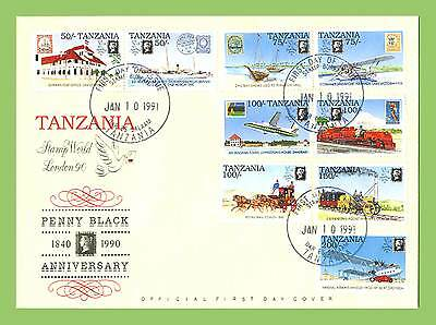 Tanzania 1990 Penny Black Anniversary set on First Day Cover