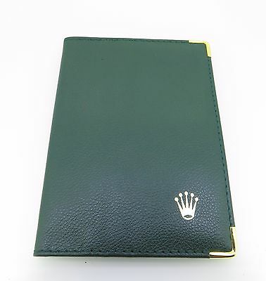 Genuine Rolex 0068 08 05 Green Wallet. Nice Condition. 143Mm X 104Mm When Closed