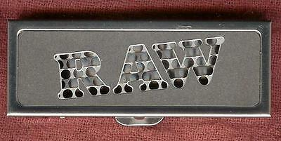 RAW 1 1/4 Size Rolling Paper Storage Case THAT DOUBLES AS A Shredder/Grinder too