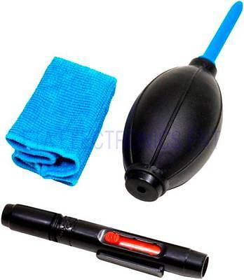 Professional 3-in-1 Lens Camera Dust Cleaner Cleaning Kit Dust Blower Pen Cloth