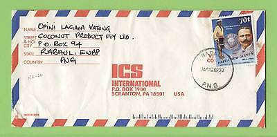 Papua New Guinea 1990 70t Police on airmail cover, Rabaul cancel