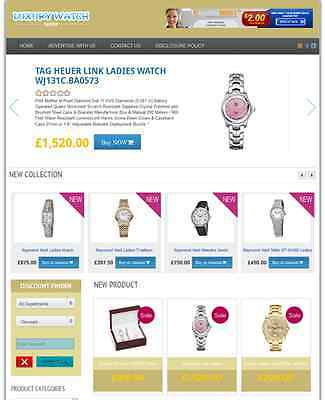 Luxury Watch Store - Fully Developed Amazon Affiliate Website For Sale