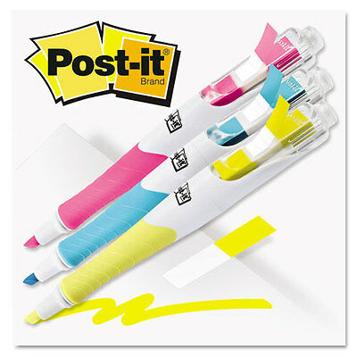 """Post-it Flag + Highlighter Highlighters, Blue/Yellow/Pink, 50 Flags/Pen, 3/Pk"""