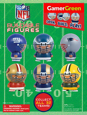 (1) NEW 2013 NFL FULLY ASSEMBLED BUILDABLE OFFICIAL LICENSED  ( PICK YOUR TEAM!)