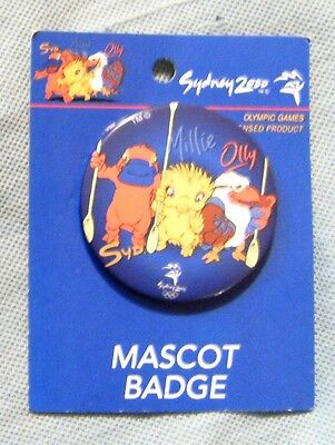 #d72.  Sydney 2000 Olympic Tin Badge - Team Mascot Rowing