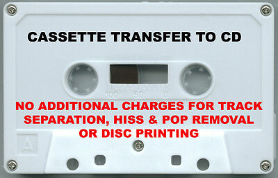 1 Audio Cassette Tape Transfer / Copy to CD ~ 3 TAPE MINIMUM