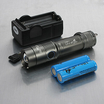 2000Lm UltraFire CREE XML T6 LED ZOOMABLE Flashlight Torch Light 18650+ Charger