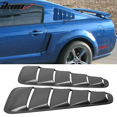 Fits 05-09 Ford Mustang Quarter Side Window Louvers Board PP