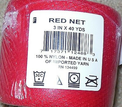 """Nylon Mesh Net Tulle for Crocheted Scrubbies 3"""" x 40 yd spool light weight soft"""