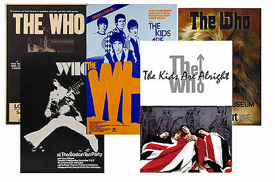 The Who - Set Of 5 - A4 Poster Prints # 1