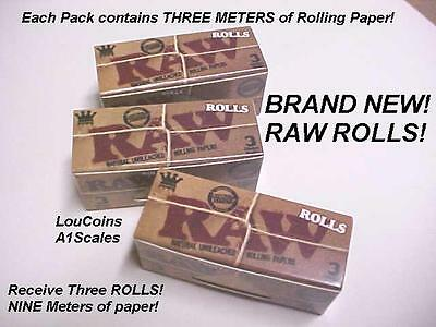 RAW ROLLS King Size NATURAL Cigarette Rolling Papers